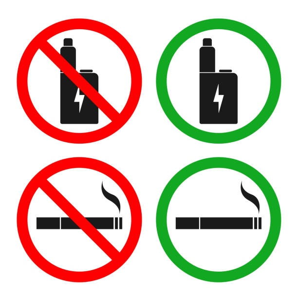 Top 60 No Vaping Sign Clip Art, Vector Graphics and ...