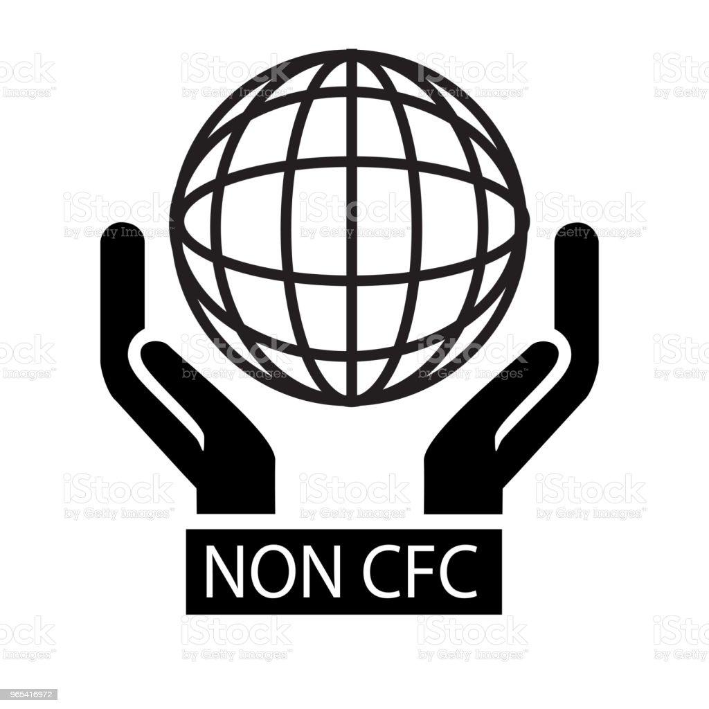 標誌, 非氟氯化碳 - 免版稅乾淨圖庫向量圖形