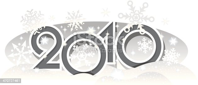 istock Sign of 2010 Snowflakes 470727461