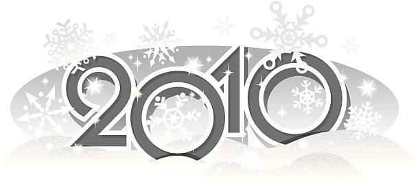 bildbanksillustrationer, clip art samt tecknat material och ikoner med sign of 2010 snowflakes - 2010