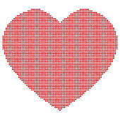 Sign of a heart made of three thousand little hearts