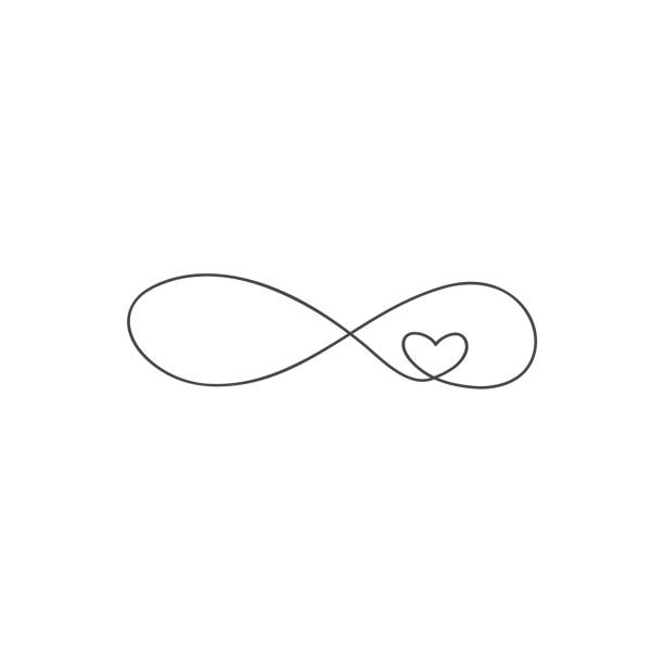sign of infinity and heart icon. Element of wedding for mobile concept and web apps illustration. Thin line icon for website design and development, app development. Premium icon on white background Premium icon on white background. sign of infinity and heart icon. Element of wedding for mobile concept and web apps illustration. Thin line icon for website design and development, app development. eternity stock illustrations