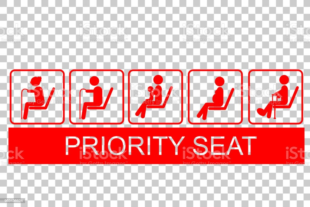 Sign of Priority Seat royalty-free sign of priority seat stock vector art & more images of assistance