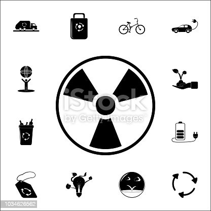 Sign Of Radiation Icon Ecology Icons Universal Set For Web And