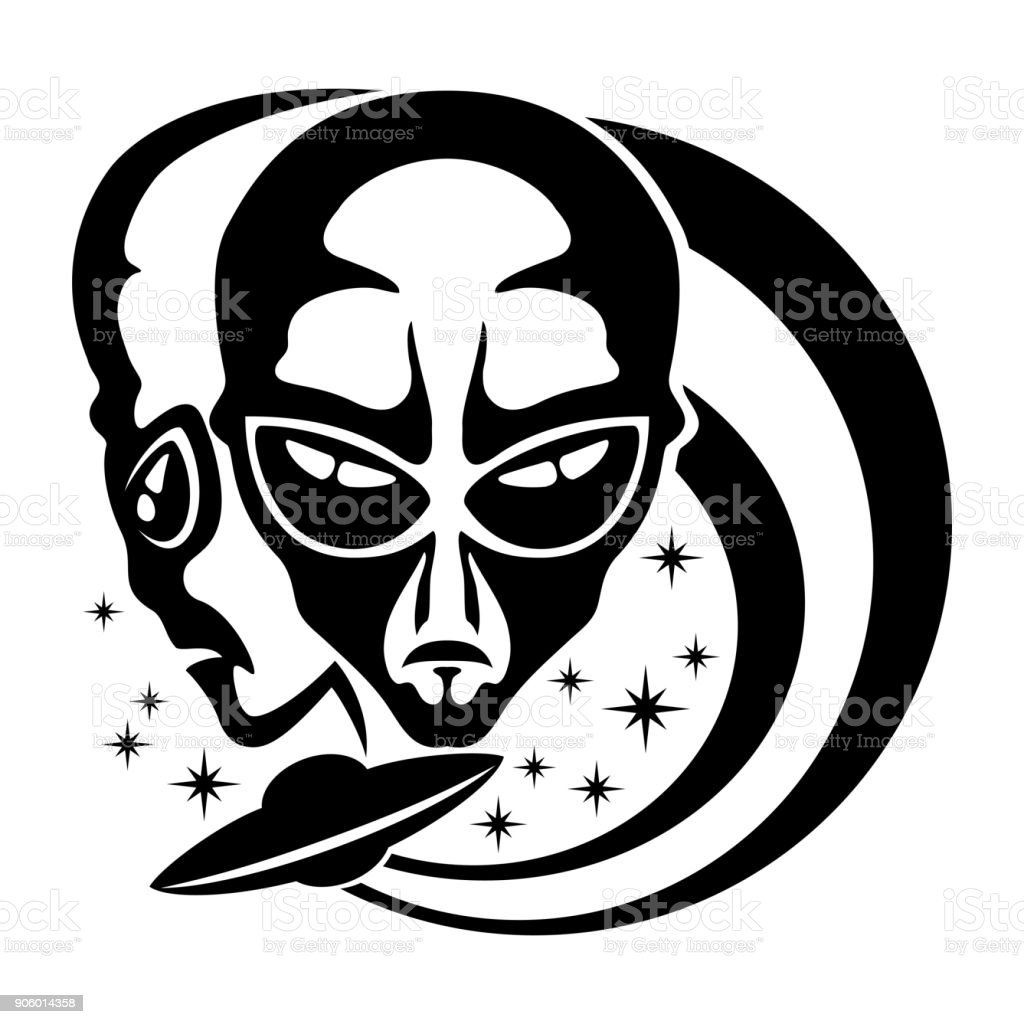 Sign of space aliens. - Royalty-free Alien stock vector