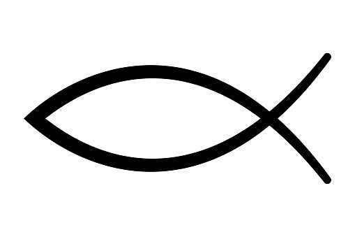 Sign of the fish, symbol of Christian art
