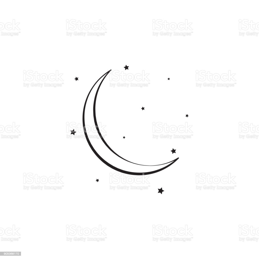 Sign Of The Moon And Stars Icon Elements Of Weather Signs Icon