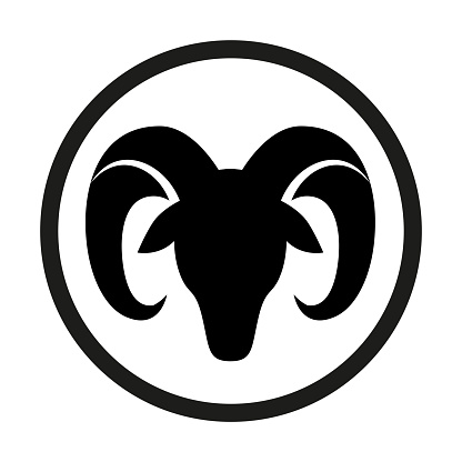 Sign Of The Zodiac Aries Isolated