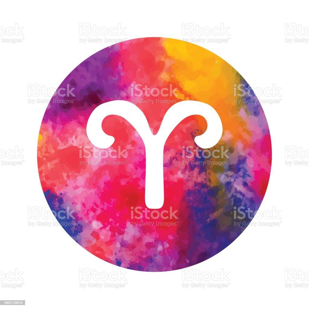 Sign of the zodiac Aries – artystyczna grafika wektorowa