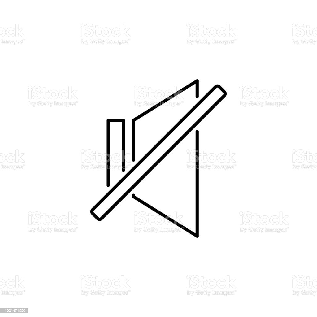 sign off sound icon. Element of simple icon for websites, web design, mobile app, info graphics. Thin line icon for website design and development, app development