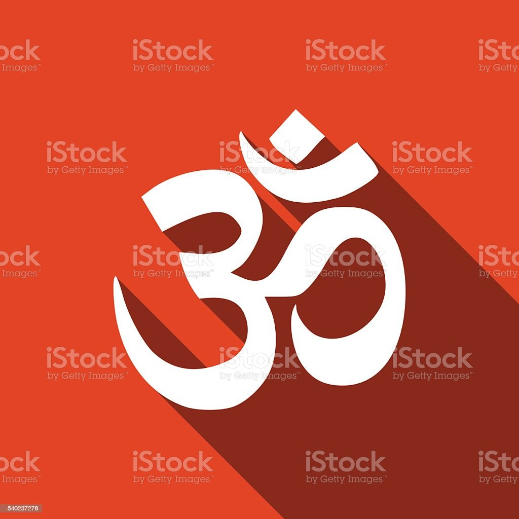 Sign Om Symbol Of Buddhism And Hinduism Religions Stock Vector Art