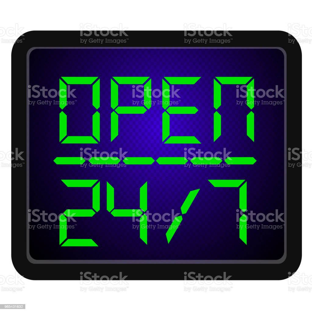 Sign Open 24 Hour 7 day a week royalty-free sign open 24 hour 7 day a week stock vector art & more images of accessibility