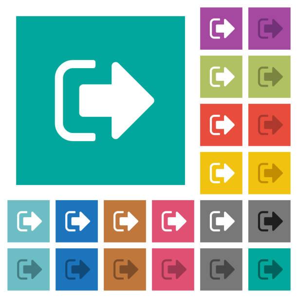 Melden Sie sich ab Platz flache Multi farbige Symbole – Vektorgrafik