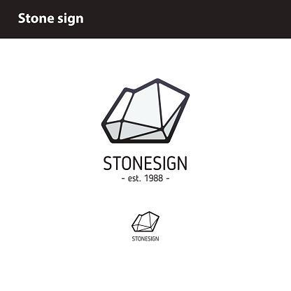 sign  polygonal stone