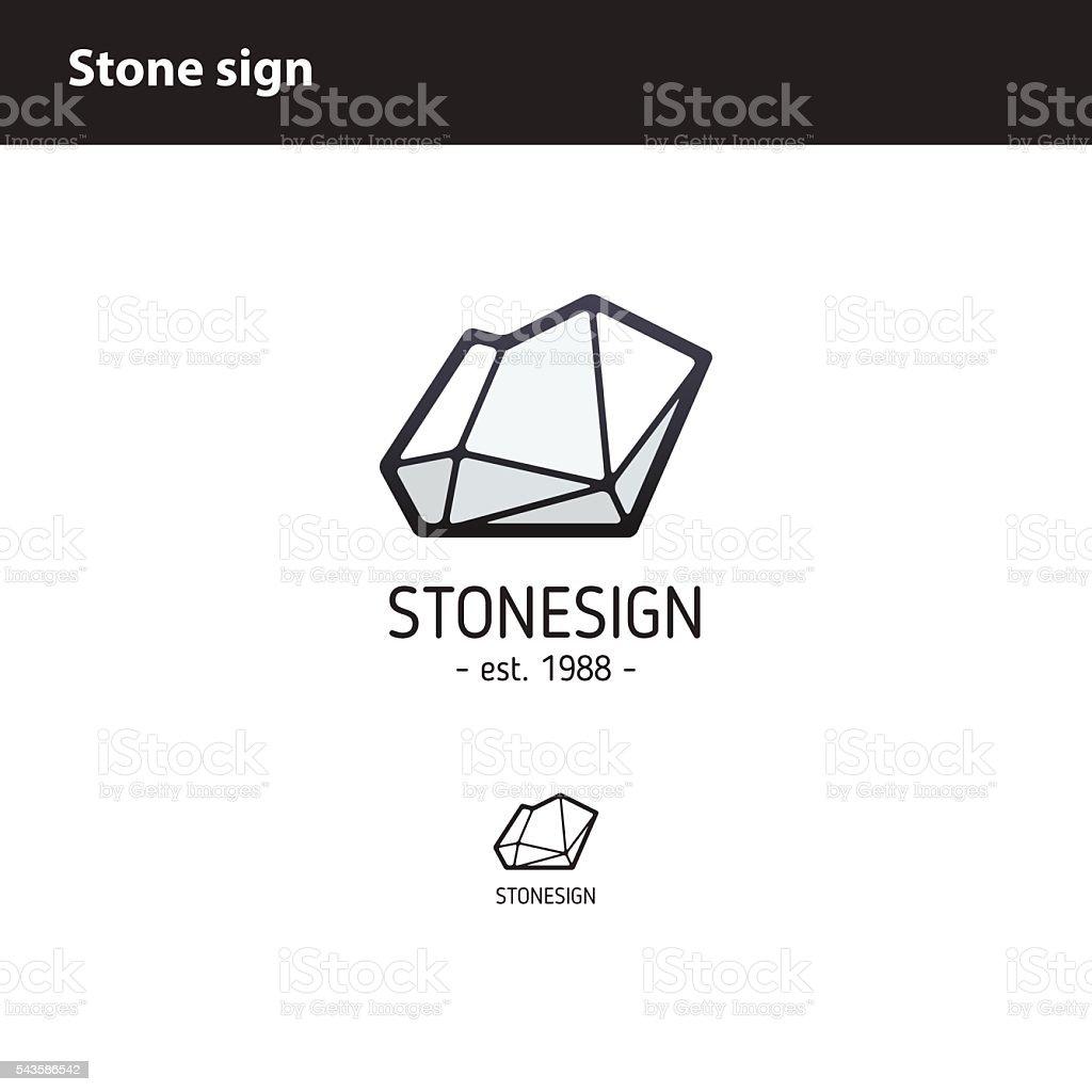 sign  polygonal stone vector art illustration