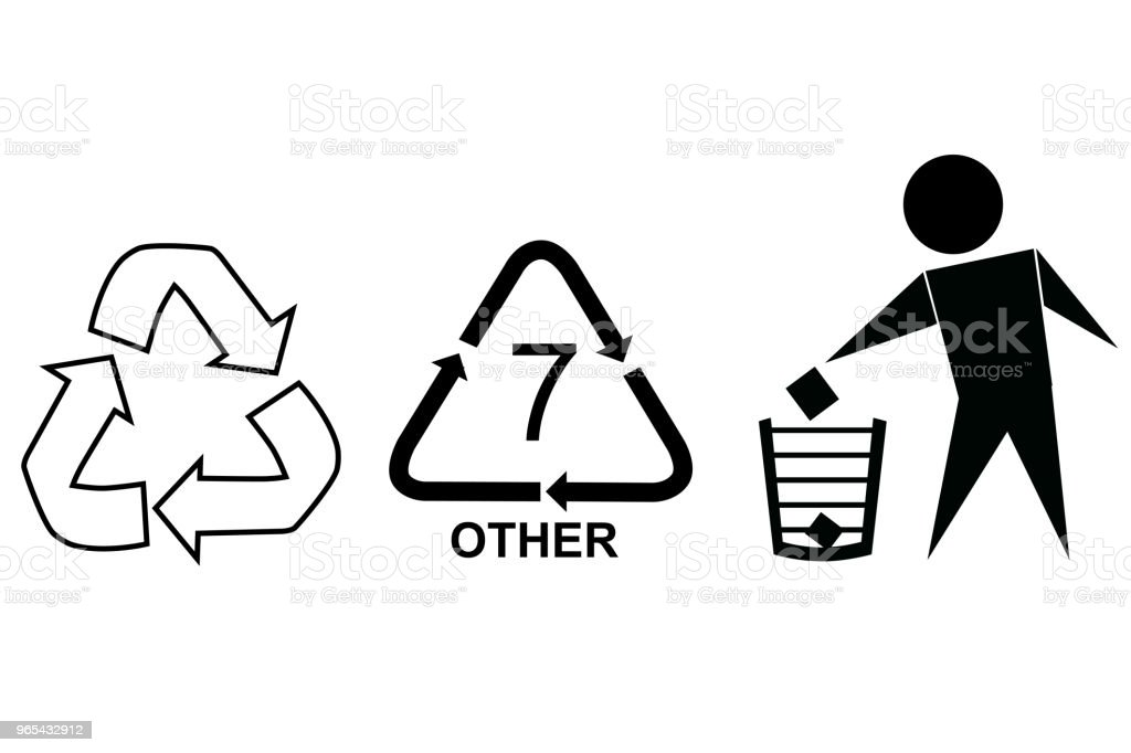 Sign : Recycle, Trash. Cut Here and Other royalty-free sign recycle trash cut here and other stock vector art & more images of box - container