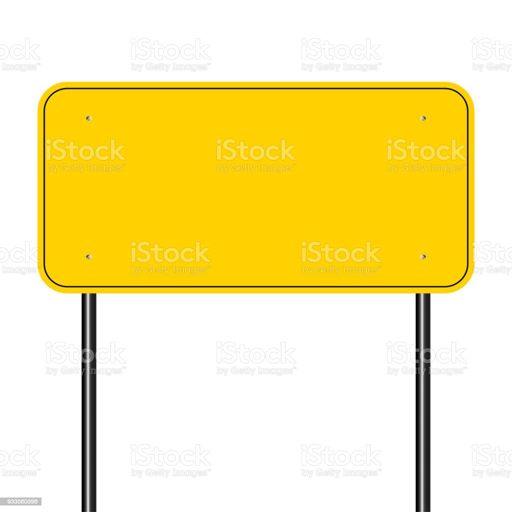 sign road yellow,Sign yellow on white background.vector illustration vector art illustration