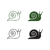 snail logo template vector icon illustration design