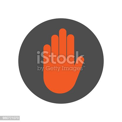 Do Not Touch Sign Stop Hand Gesture Vector Icon Stock Vector Art