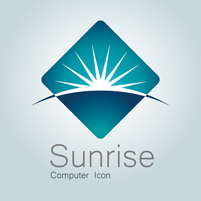 Sign, Sunrise, Earth, Globe,Planet, Horizon, Modern Logo