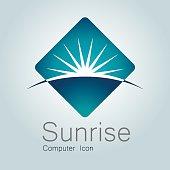 istock Sign, Sunrise, Earth, Globe,Planet, Horizon, Modern Logo 528728561