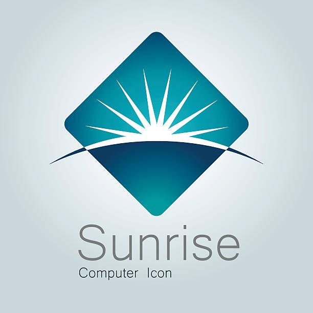 sign, sunrise, earth, globe,planet, horizon, modern logo - sunrise stock illustrations, clip art, cartoons, & icons