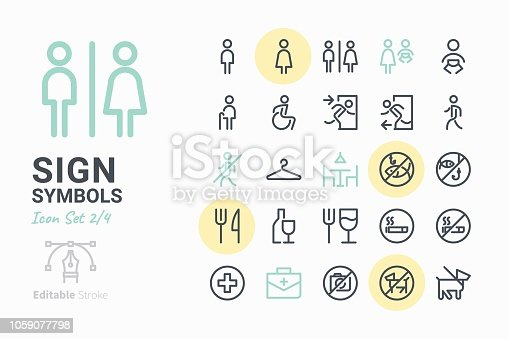 Sign Symbols icon set 2