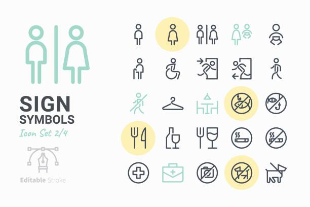 sign symbols icon set 2 - signs and symbols stock illustrations