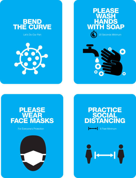 COVID Sign Templates COVID related communications designed for standard letter-sized printing. Handwashing with 20 Second Recommendation. covid icon stock illustrations