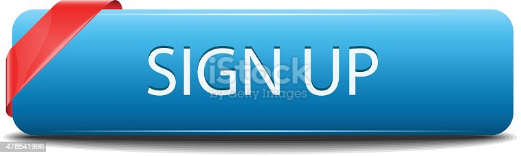 Sign up button , vector illustration