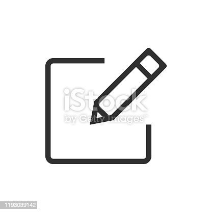 istock Sign up icon isolated on white background. Vector illustration. 1193039142