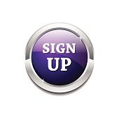 Sign Up  Vector Button Icon Design