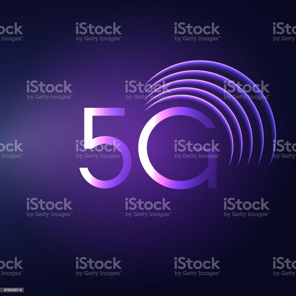 5G sign vector icon. Symbole de la technologie de télécommunications mobiles. 5g sign vector icon symbole de la technologie de télécommunications mobiles – cliparts vectoriels et plus d'images de 4g libre de droits