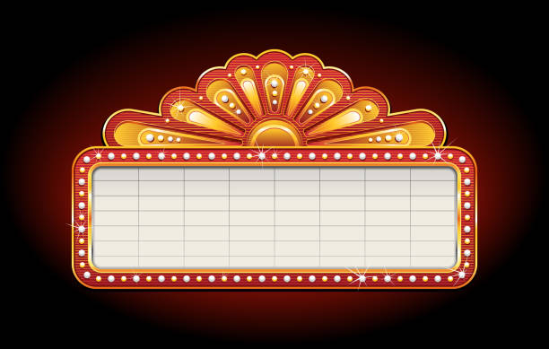 Best Theater Marquee Illustrations, Royalty-Free Vector ...