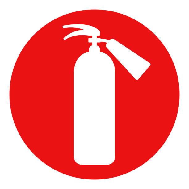 FIRE EXTINGUISHER sign. Vector FIRE EXTINGUISHER sign. Vector. emergency equipment stock illustrations