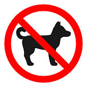 NO DOGS ALLOWED sign. Vector.