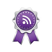 RSS Sign Violet Vector Icon Design