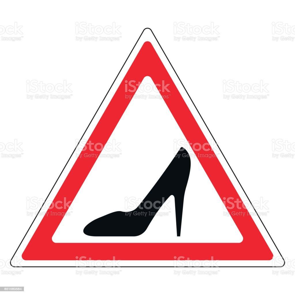 signe chaussure de femme en triangle rouge femme au volant de voiture cliparts vectoriels et. Black Bedroom Furniture Sets. Home Design Ideas