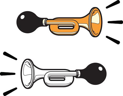 Signal by horn, klaxon.