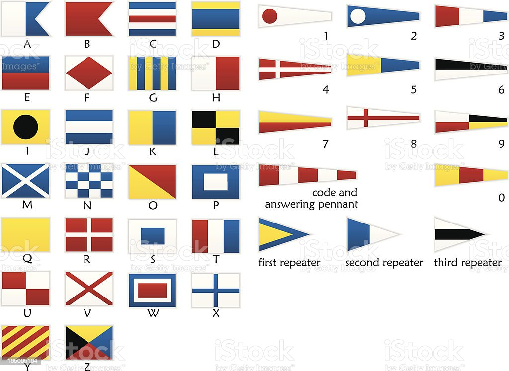 Signal flags royalty-free signal flags stock vector art & more images of communication