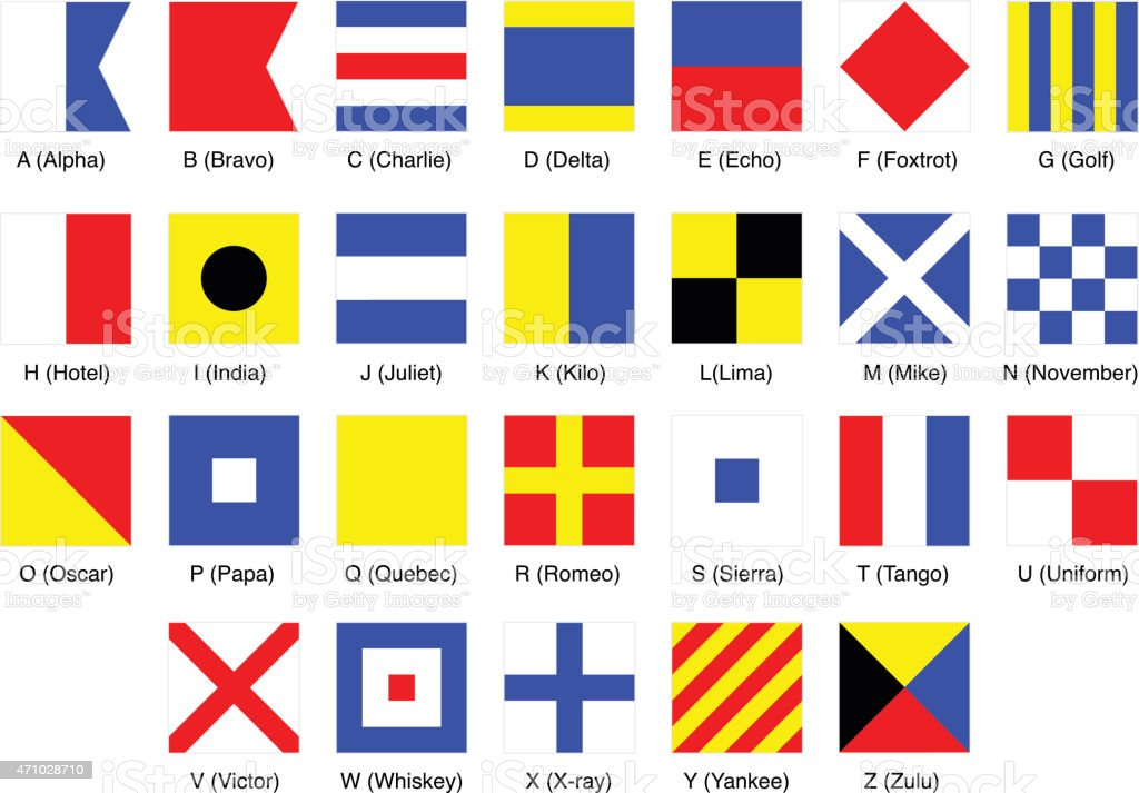 Signal Flags vector art illustration