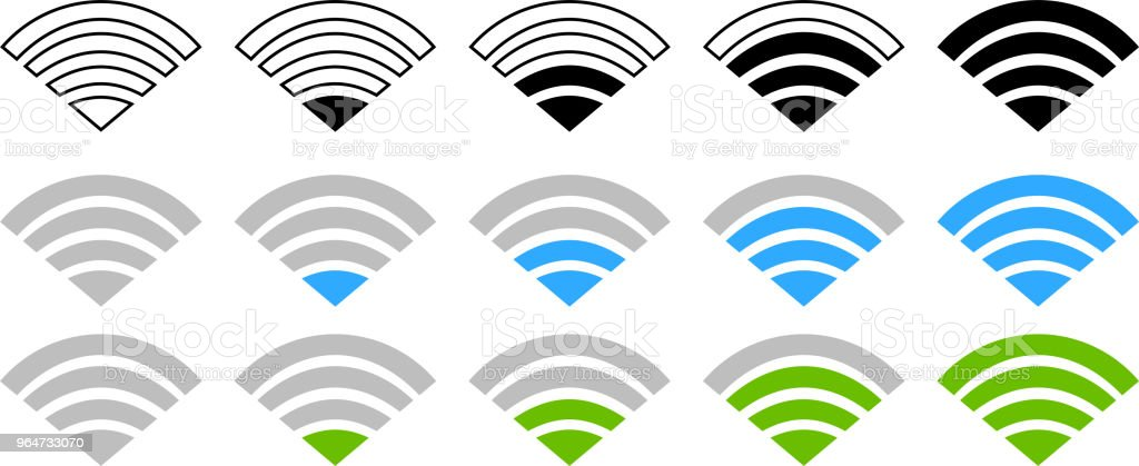 Signal icon of radio wave status set royalty-free signal icon of radio wave status set stock vector art & more images of antenna - aerial