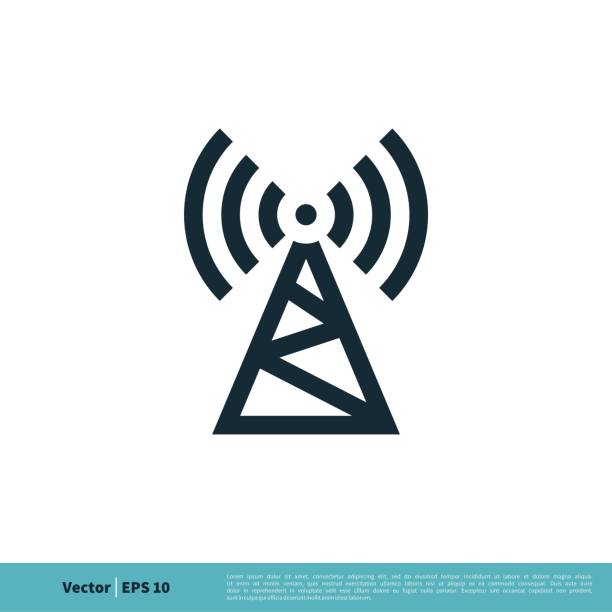 Signal Tower Icon Logo Template Illustration Design. Vector EPS 10. Signal Tower Icon Logo Template Illustration Design. Vector EPS 10. repeater tower stock illustrations