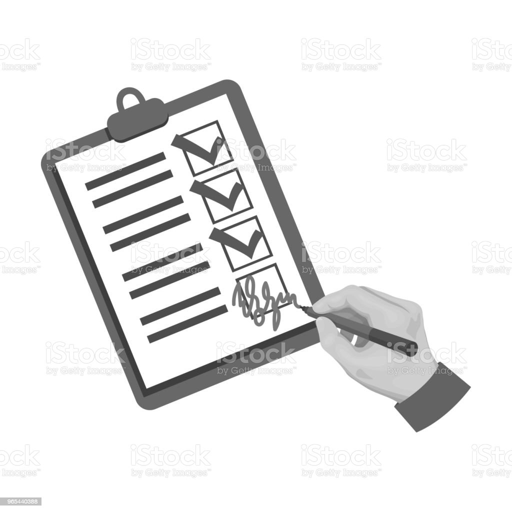Signature du document de livraison. Logistique et livraison unique icône de style monochrome isométrique vecteur symbole stock illustration web. - clipart vectoriel de Carré - Composition libre de droits