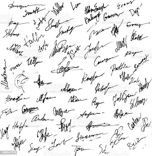 Signatures set. Abstract Business autograph illustration. Big set of signatures for infographics