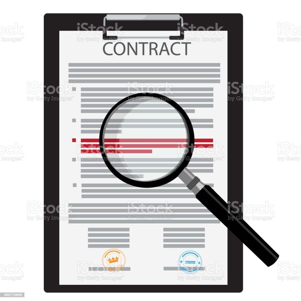 Signed business contract vector art illustration