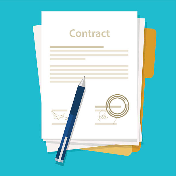 Royalty Free Contract Clip Art, Vector Images & Illustrations - iStock