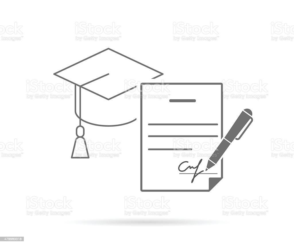 Assinatura contrato - ilustração de arte em vetor