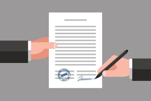 Legal Document Illustrations, Royalty-Free Vector Graphics ...