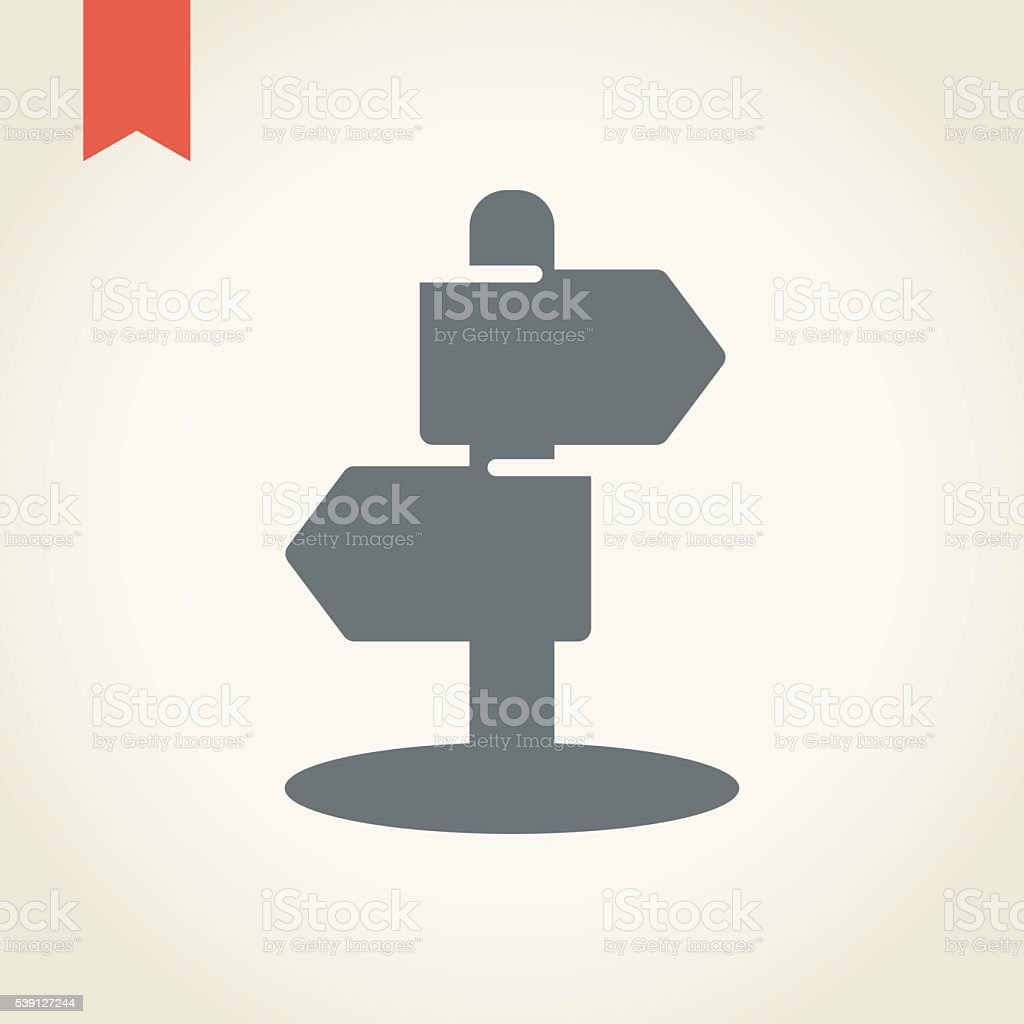 Signpost icon vector art illustration